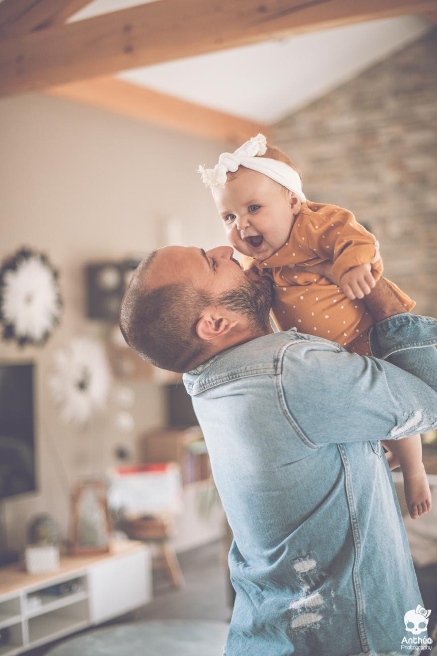 photo papa et bébé