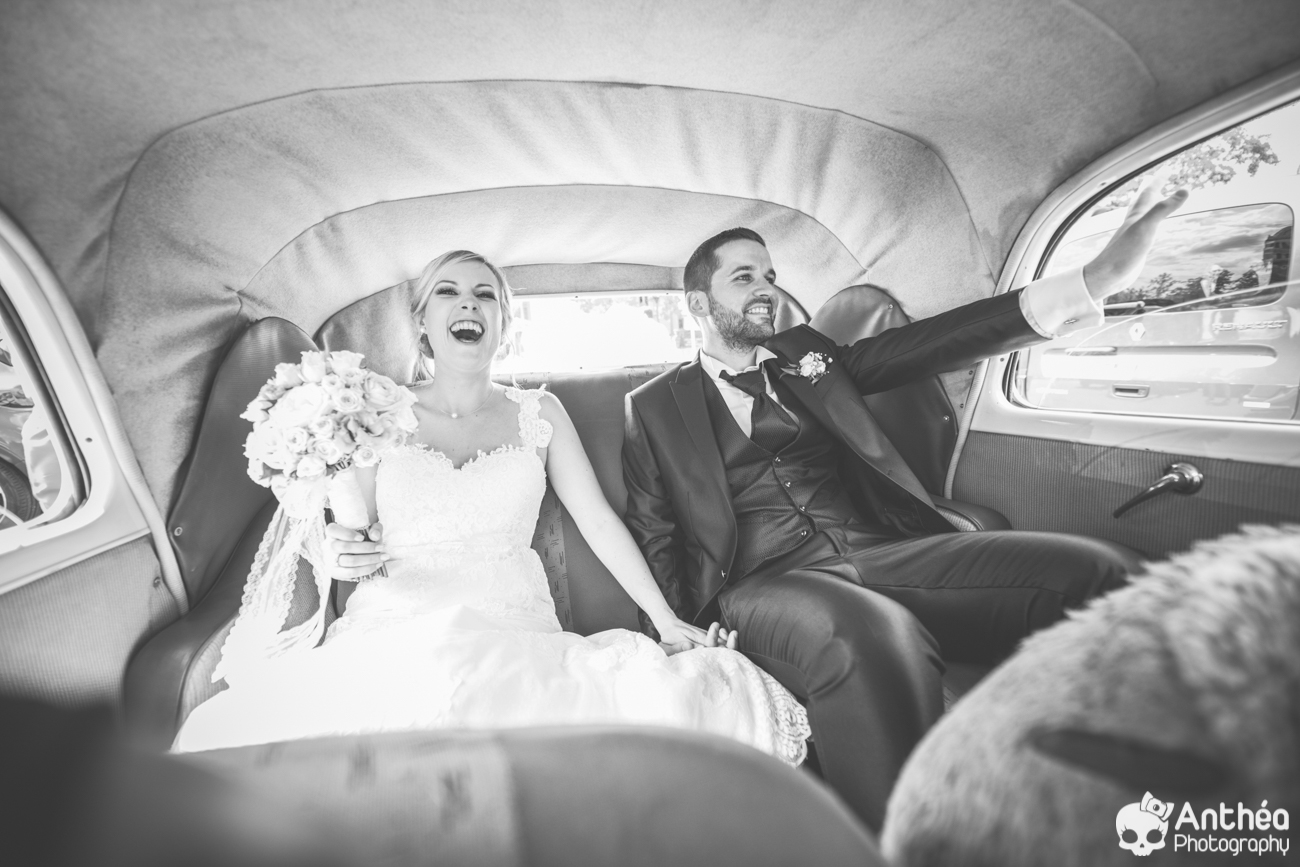 mariage voiture champêtre chic