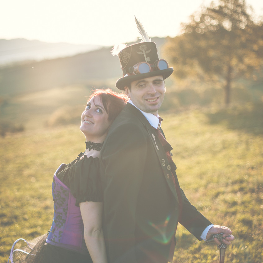 Mariage Chloe & Denis Steampunk Geek