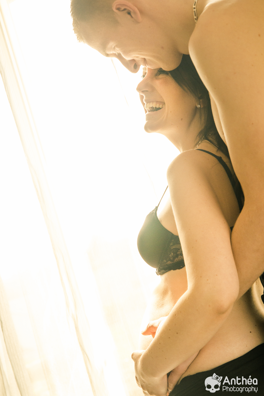 photographe grossesse intime maison