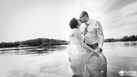 Les mariés sont à l'eau ! Aurélie et Candy l'ont fait !