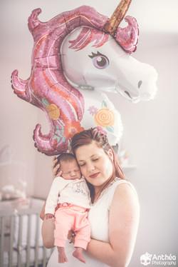 maman licorne bébé fille