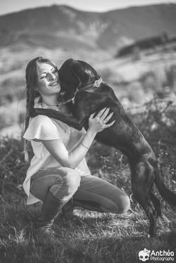séance animaux chien maitre