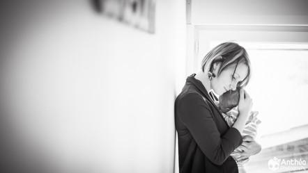 Photographe à Domicile - Vienne & Isère - L'arrivée de la petite soeur