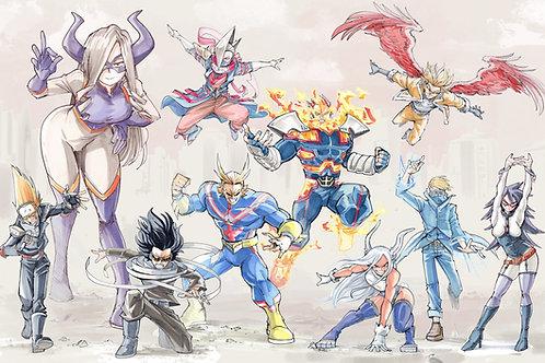 """Pro Heroes"" 11x17"" Print"