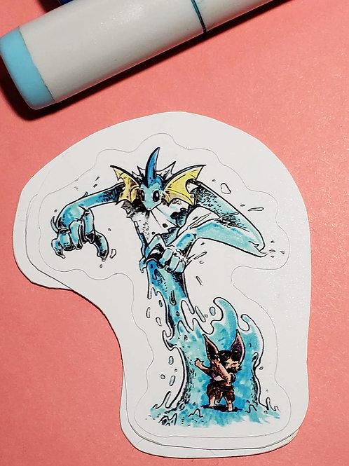 """""""Vaporeon"""" Sticker"""