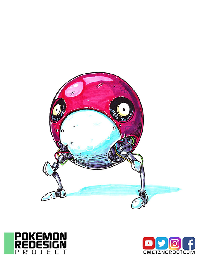 Pokemon Redesigns: Voltorb and Electrode!