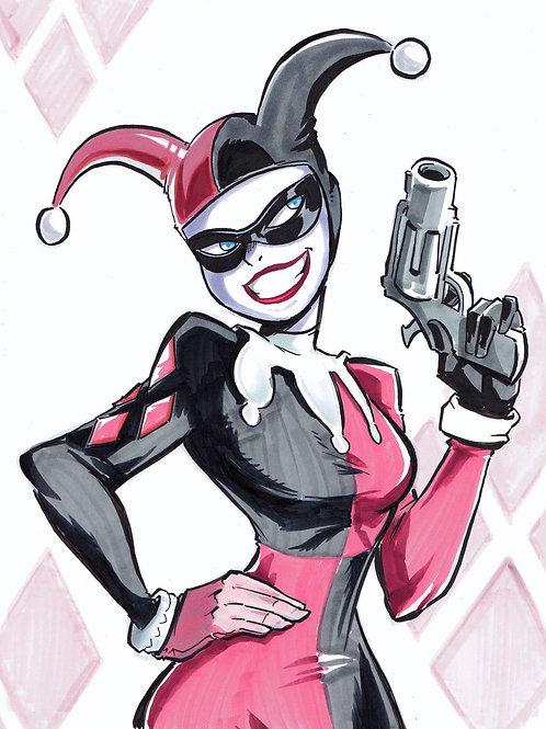 """""""Harley Quinn"""" 8.5x11 Print"""
