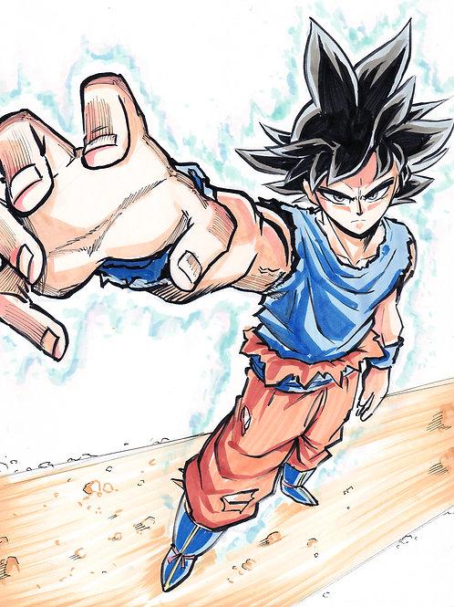 """""""Goku U.I. Sign"""" 8.5x11 Print"""