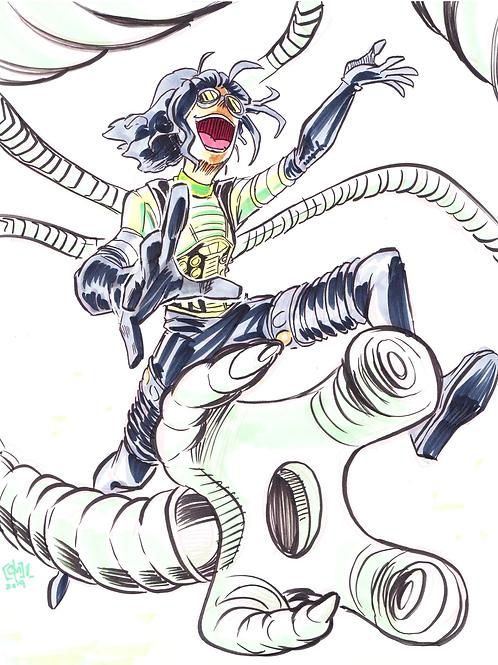 """""""Doctor Octopus"""" 8x11"""" Print"""
