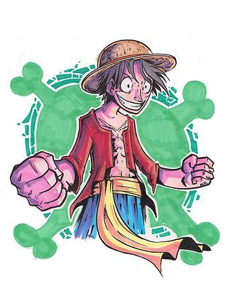 """Luffy"" 8x11"" Print"