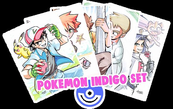 """""""Pokemon Indigo League"""" 8.5x11 (Set of 5)"""