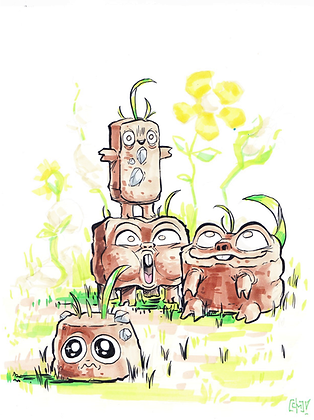 """Overgrown"" Original"