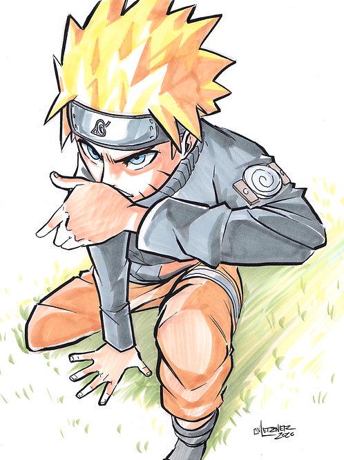 """Naruto Shippuden"" 8.5x11 Print"