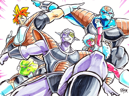 """Ginyu Force"" 8x11"" Print"