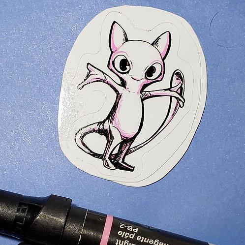 """""""Mew"""" Sticker"""