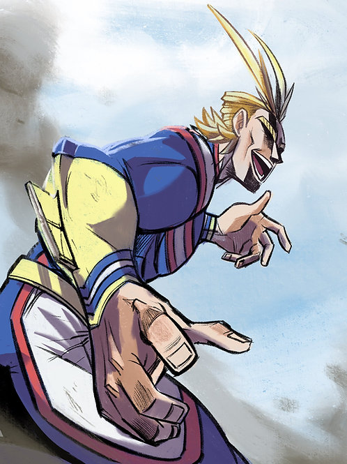"""All Might"" 8x11"" Print"