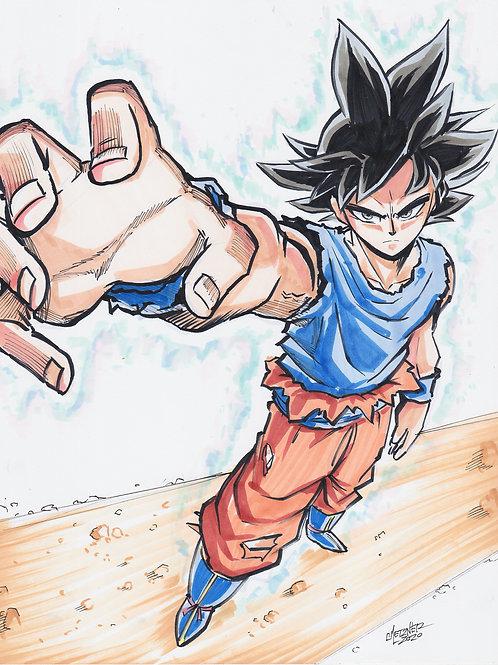 """""""Goku U.I. Sign"""" Original"""
