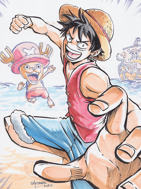 """Luffy x Chopper"" 8.5x11 Print"