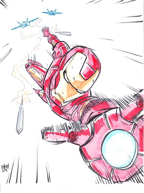 """Iron Man"" 8x11"" Print"