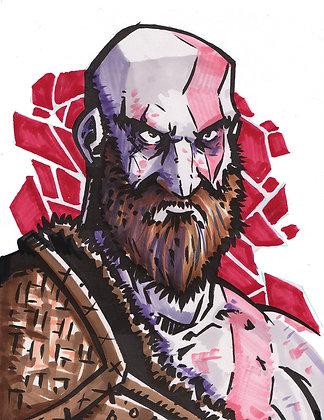 """Kratos"" 8x11"" Print"