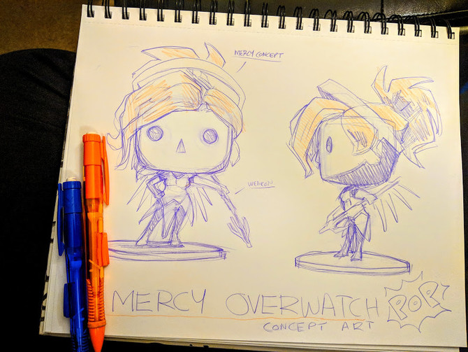 Project: Mercy POP Figure Concept