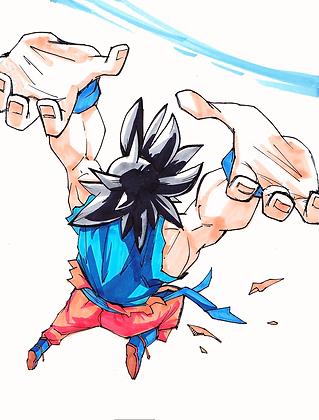 """Goku"" 8x11"" Print"