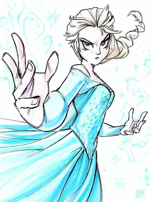 """""""Elsa"""" 8x11"""" Print"""