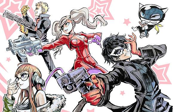 """Persona 5 Team A"" 11x17"" Print"