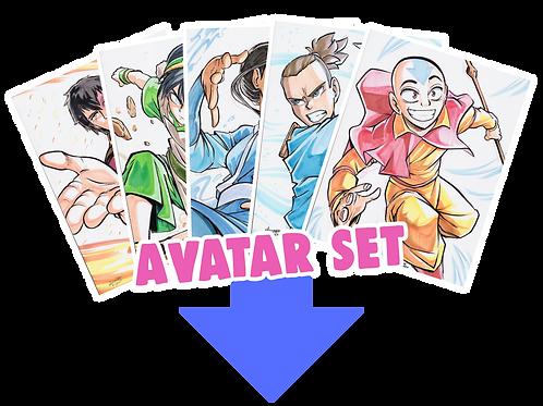 """Avatar"" 8.5x11 (Set of 5)"