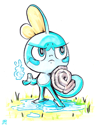 """Sobble & Shield"" Original"