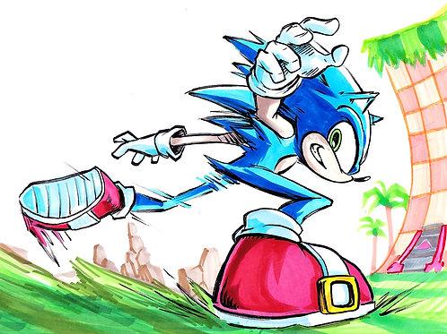"""Sonic"" 8x11"" Print"