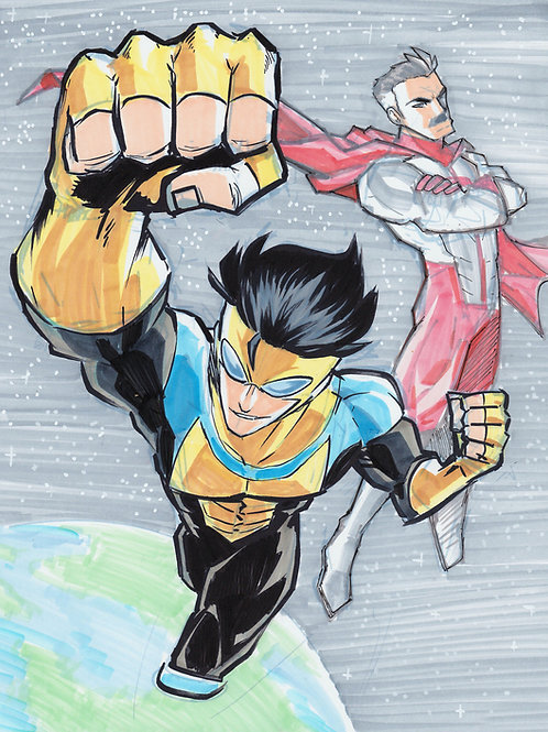 """Invincible & Omni-Man"" 8.5x11 Print"