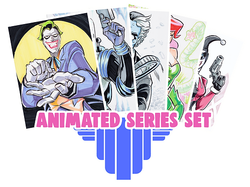 """Animated Series"" 8.5x11 (Set of 5)"