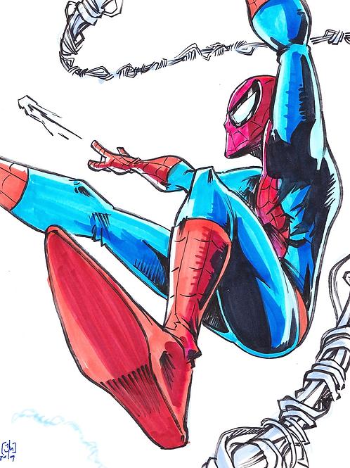 """""""Spider-man"""" 8x11"""" Print"""