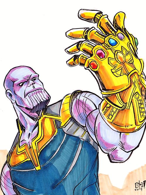 """Thanos"" 8x11"" Print"