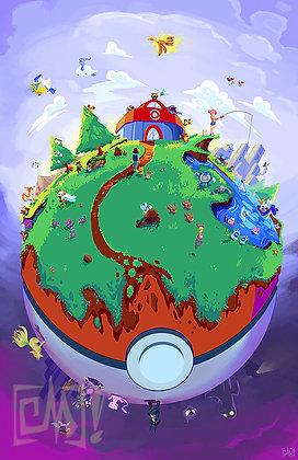 """World of Pokemon"" 11x17"" Print"