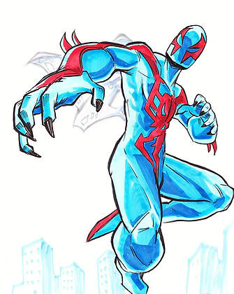 """Spiderman 2099"" 8x11"" Print"