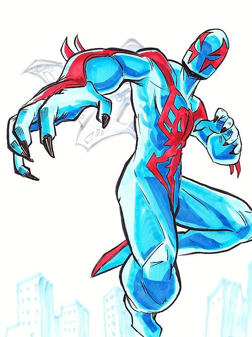 """""""Spiderman 2099"""" 8x11"""" Print"""