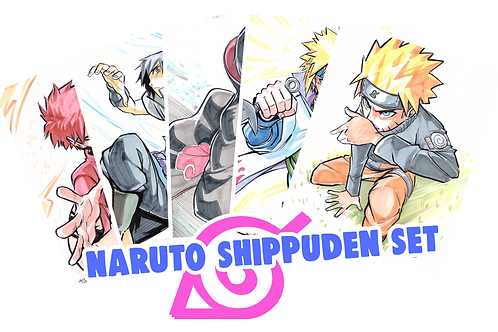 """Naruto Shippuden"" 8.5x11 (Set of 5)"