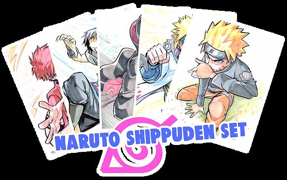 """""""Naruto Shippuden"""" 8.5x11 (Set of 5)"""