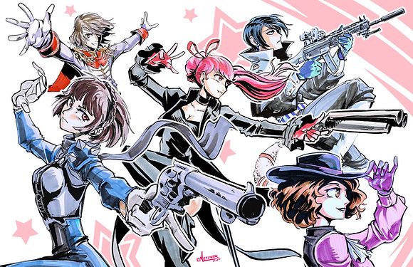 """""""Persona 5 Team B"""" 11x17"""" Print"""