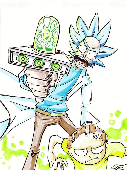 """Rick"" 8x11"" Print"