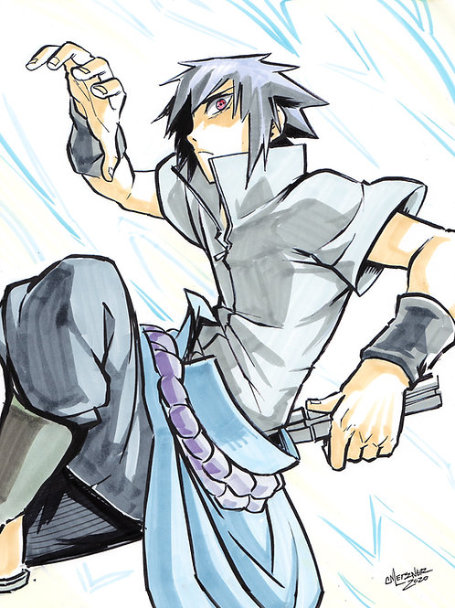 """Sasuke"" 8.5x11 Print"