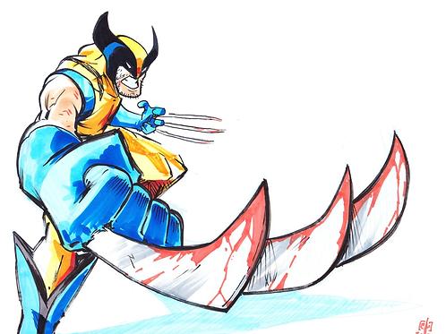 """""""Wolverine"""" 8x11"""" Print"""