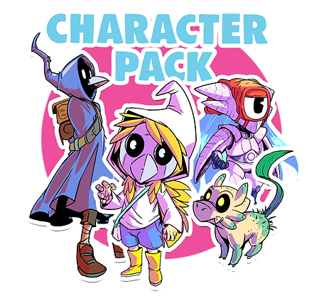 4x Sticker Character Pack