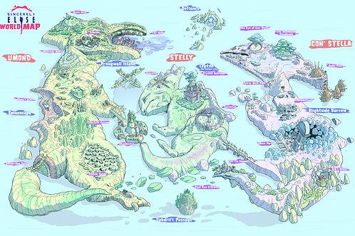 """World Map"" 11x17 Print"