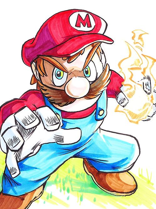 """Mario"" 8x11"" Print"