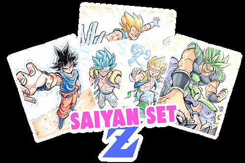 """""""Saiyan Set"""" 8.5x11 (Set of 5)"""