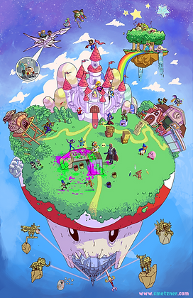 """World of Nintendo"" 11x17"" Print"